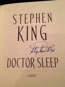 Signed copy of Doctor Sleep from Stephen King