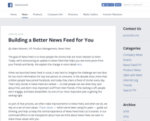 Facebook - Building a Better News Feed